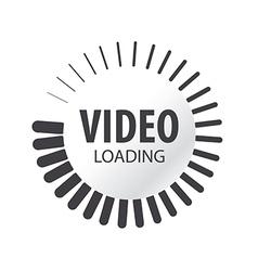 Abstract logo video loading vector
