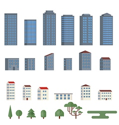 Background with city buildings vector