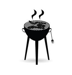 barbecue grill black vector image