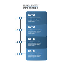 basic business infographics design template vector image vector image