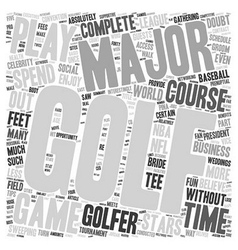 Benefits of golf text background wordcloud concept vector