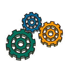 Business gears mechanism concept connected vector