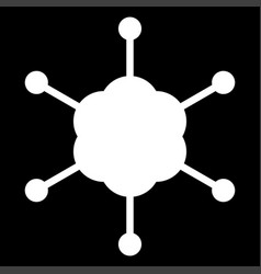 Business network the white color icon vector