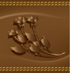 chocolate roses vector image
