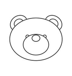 Cute bear teddy icon vector