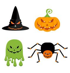 evil halloween characters vector image vector image