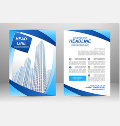flyer template design vector image vector image