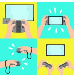 Gaming system four different types of use vector