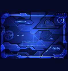 hi-tech digital technology and engineering vector image vector image