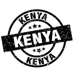Kenya black round grunge stamp vector