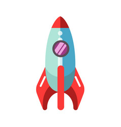 Kid toy children plaything rocket spaceship vector