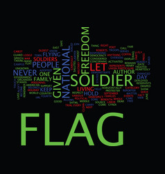 Let s fly our flag text background word cloud vector