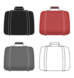 luggage icon in cartoon style isolated on white vector image