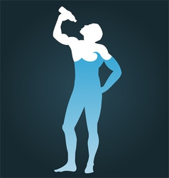 Man consisting of water vector image