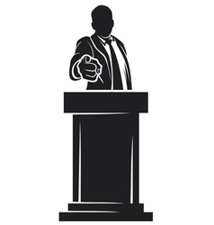 man giving speech vector image vector image
