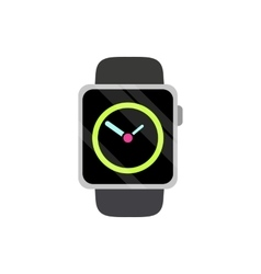 Modern wristwatch icon flat style vector image
