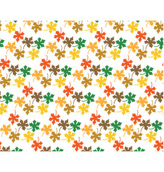 Pattern from leaves of maple vector