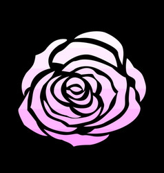pink rose icon vector image vector image