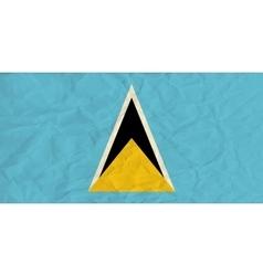 Saint lucia paper flag vector