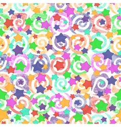 Seamless pattern colored stars vector image