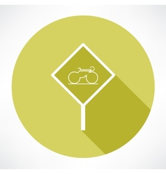 sign with a bicycle icon vector image vector image