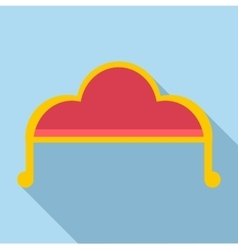 Sofa icon flat style vector image