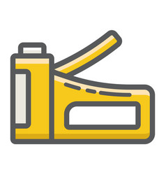 Staple gun filled outline icon build and repair vector