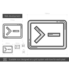 Web development line icon vector