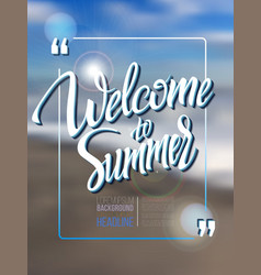 Welcome to summer vector image