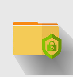 yellow folder icon vector image vector image