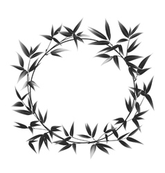 Circle frame of bamboo vector