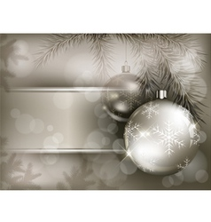 Christmas background baubles vector