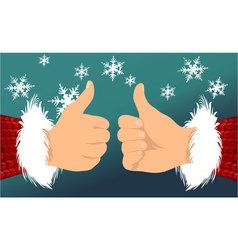 Santa Claus OK hand vector image