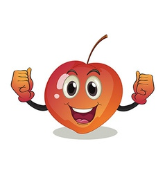 A smiling fruit vector