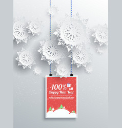 Winter christmas sale design elements vector