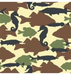 Fish camouflage vector