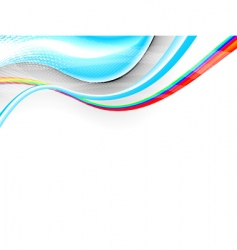 3Ds waves vector image
