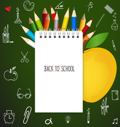 Welcome back to school with paper note vector