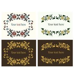 flower decorative borders set vector image