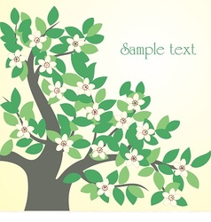 Spring tree with flowers vector