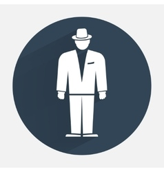 Man icon office worker symbol standing figure in vector