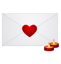 envelope with red heart vector image