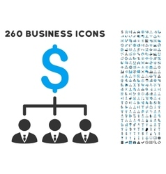 Banker links icon with flat set vector