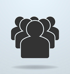 Icon of team or people group vector