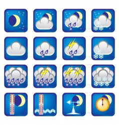Weather night vector