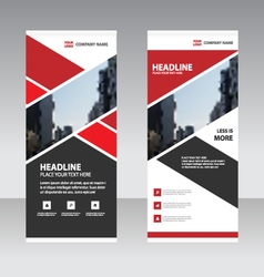 Red abstract business roll up banner flat design vector