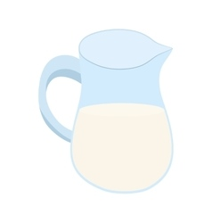 Jar of milk icon bakery ingredient design vector