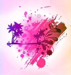 abstract colorful summer background vector image vector image