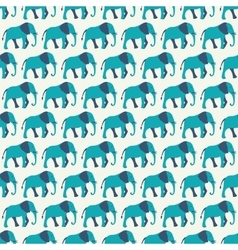 Animal seamless pattern of elephant vector image
