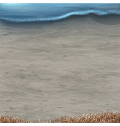 Background with seascape vector image